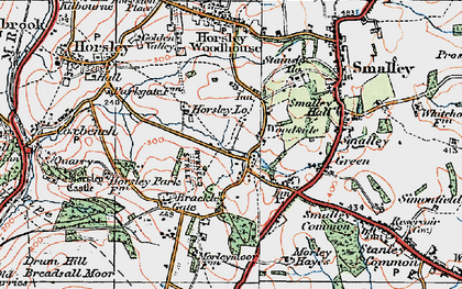 Old map of Woodside in 1921