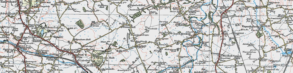 Old map of Woodside in 1923