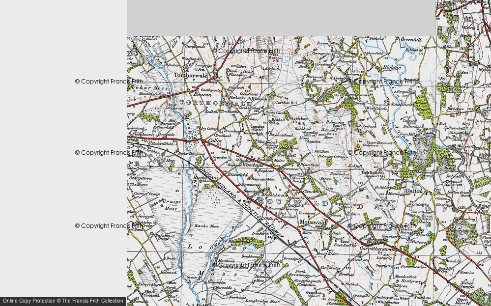 Old Map of Historic Map covering Linns in 1925