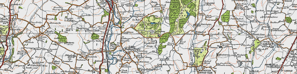 Old map of Woodside Green in 1919