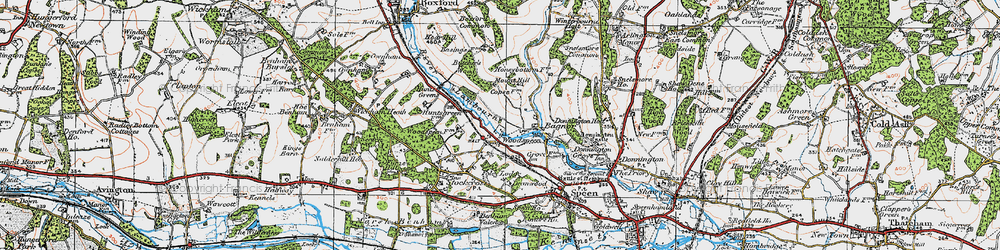Old map of Woodspeen in 1919