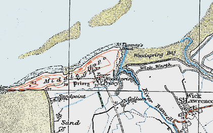 Old map of Wick Warth in 1919