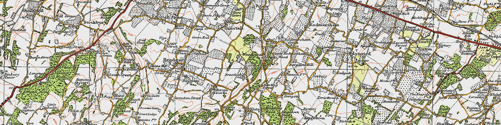 Old map of Woodstock in 1921