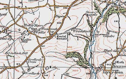 Old map of Woodstock Cross in 1922