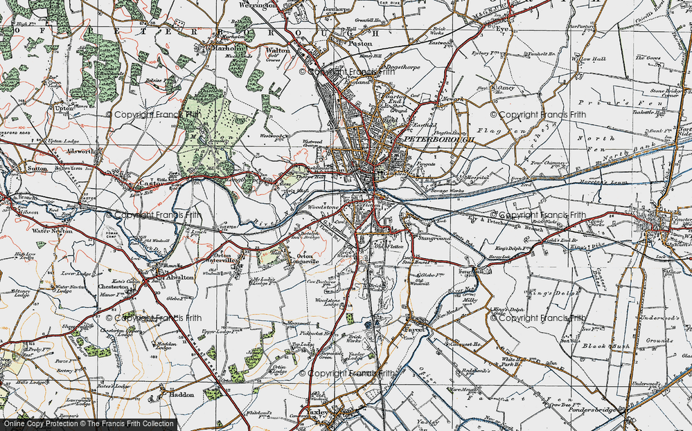 Old Map of Woodston, 1922 in 1922