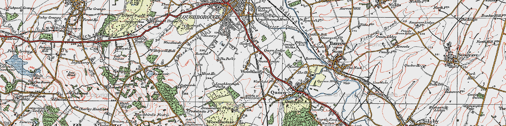 Old map of Whatoff Lodge in 1921