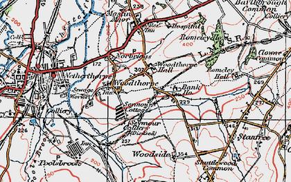 Old map of Woodthorpe in 1923