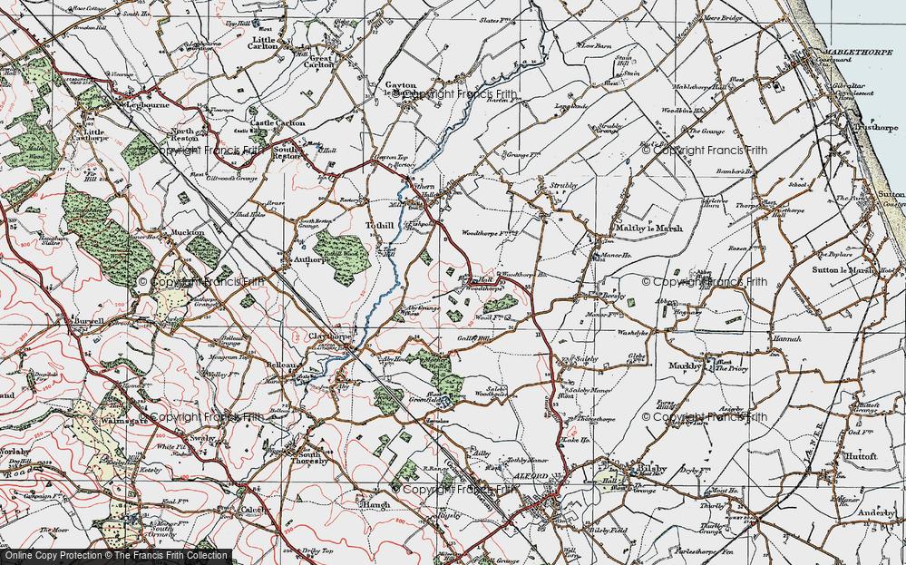 Old Map of Woodthorpe, 1923 in 1923
