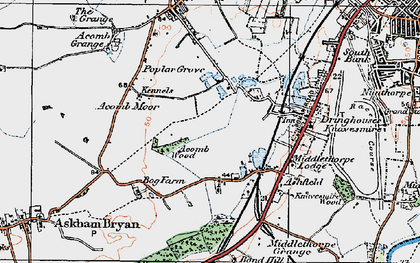 Old map of Askham Bogs in 1924