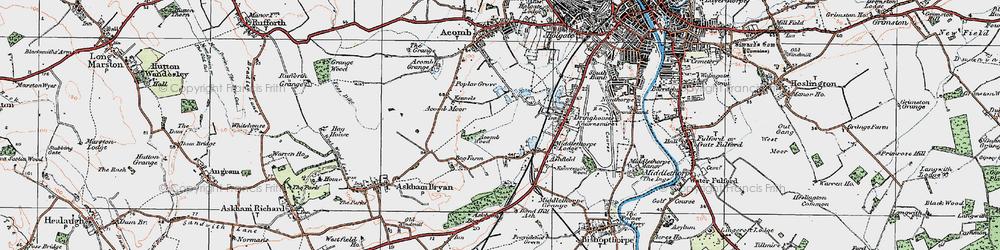 Old map of Woodthorpe in 1924