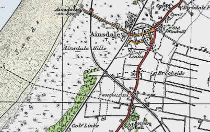 Old map of Woodvale in 1923