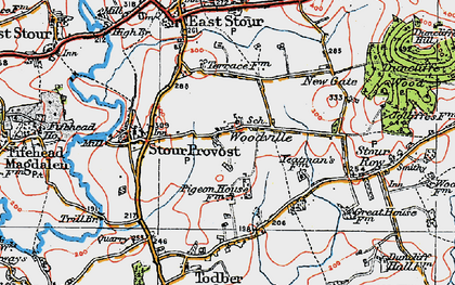 Old map of Woodville in 1919