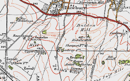 Old map of Langdon Hill in 1919