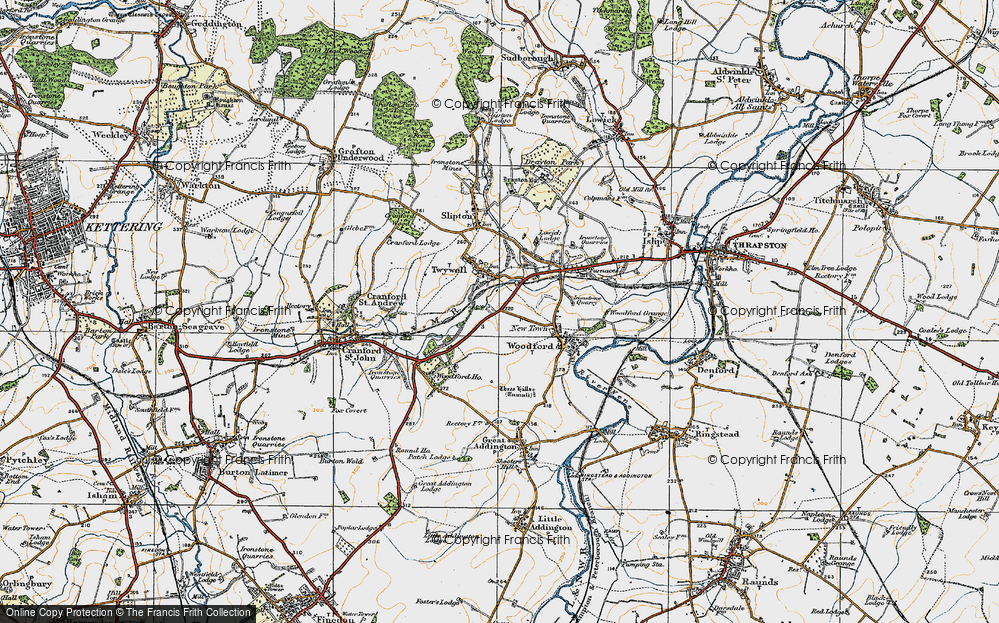 Old Map of Historic Map covering Woodford Ho in 1920