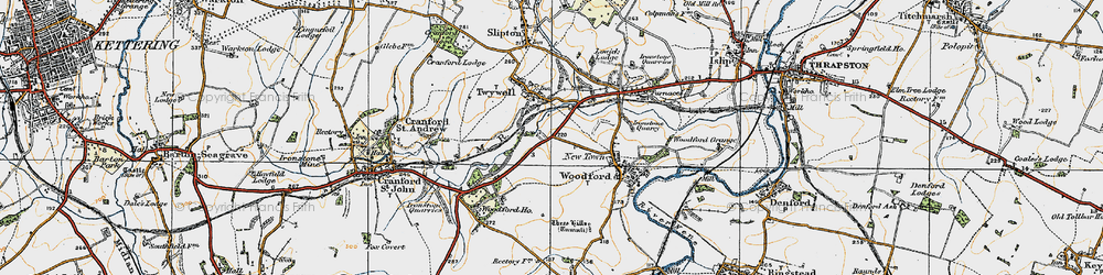 Old map of Woodford Ho in 1920
