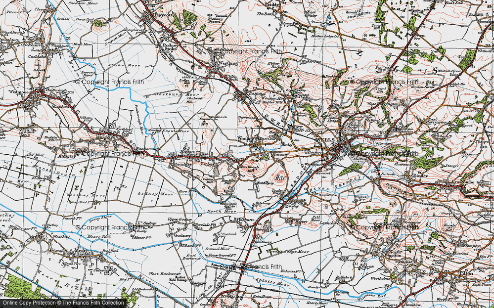 Old Map of Wookey, 1919 in 1919