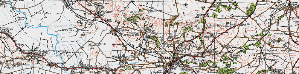 Old map of Wookey Hole in 1919