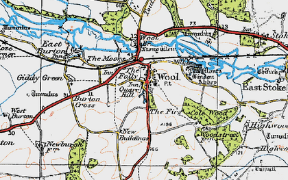Old map of Bindon Abbey in 1919