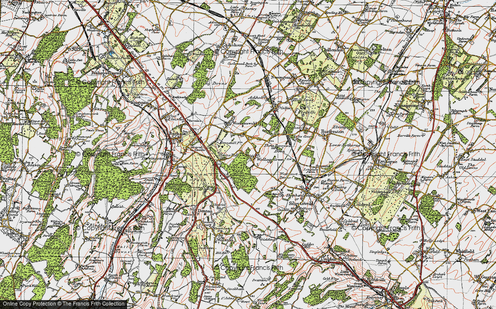 Old Map of Woolage Green, 1920 in 1920