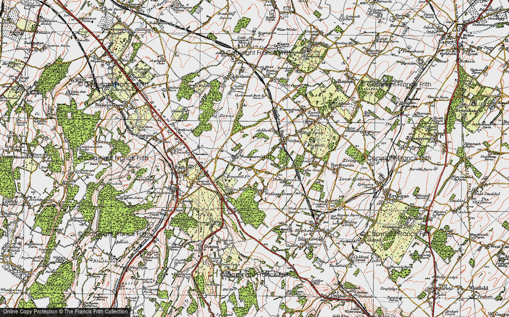 Old Map of Woolage Village, 1920 in 1920
