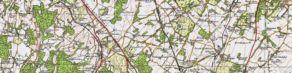 Old map of Woolage Village in 1920