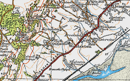 Old map of Woolaston in 1919