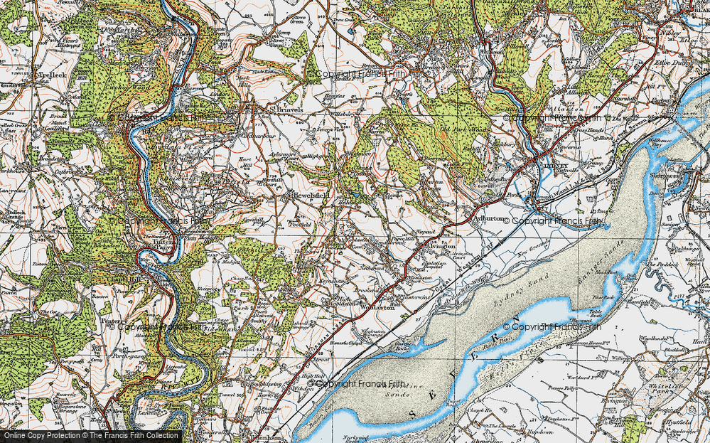 Old Map of Woolaston Common, 1919 in 1919