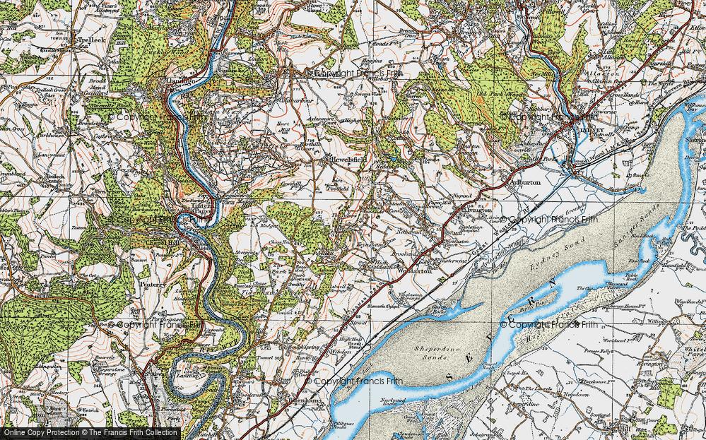 Old Map of Woolaston Woodside, 1919 in 1919