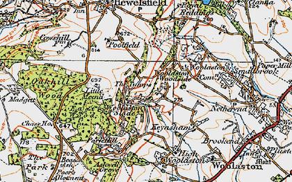 Old map of Woolaston Woodside in 1919