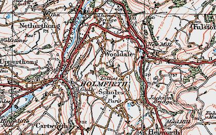 Old map of Wooldale in 1924
