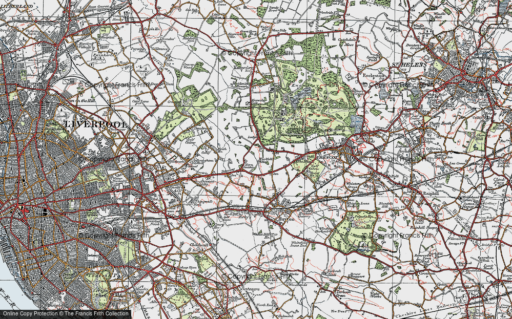 Old Map of Woolfall Heath, 1923 in 1923