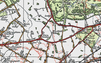Old map of Woolfall Heath in 1923