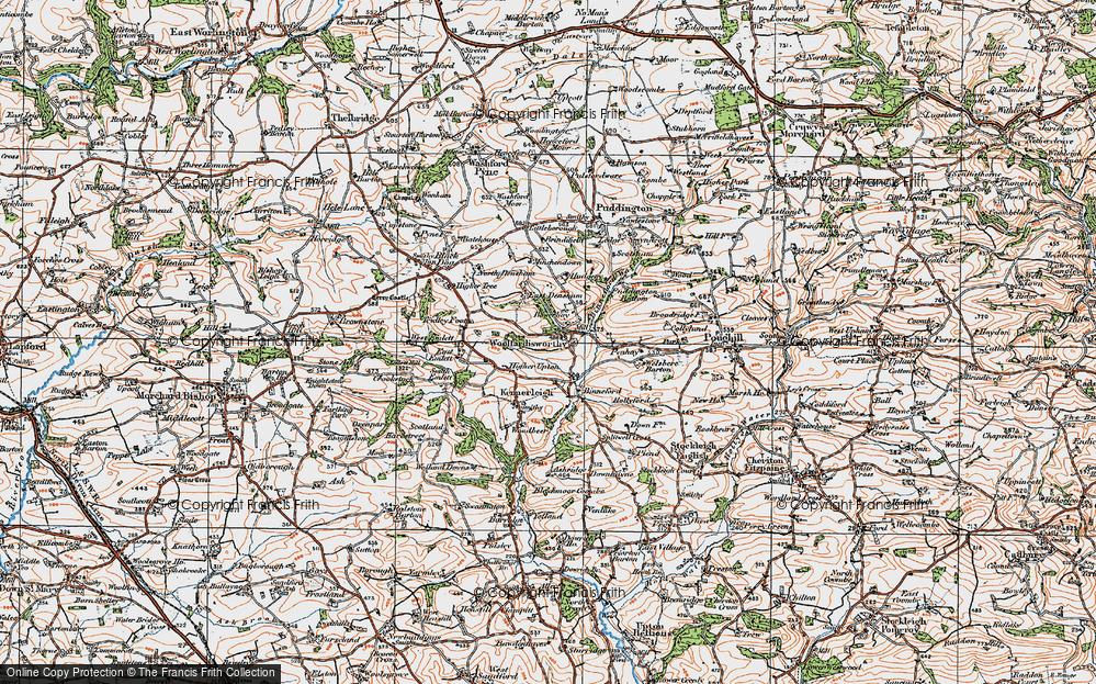 Old Map of Woolfardisworthy, 1919 in 1919