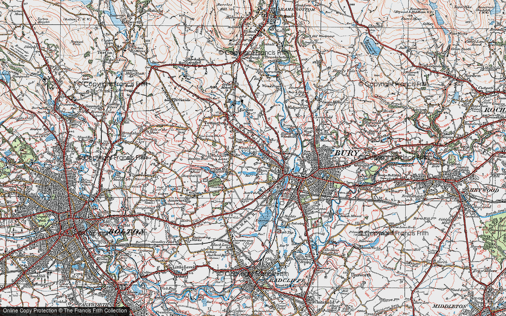 Old Map of Woolfold, 1924 in 1924