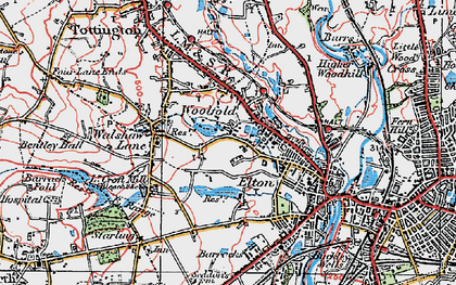 Old map of Woolfold in 1924