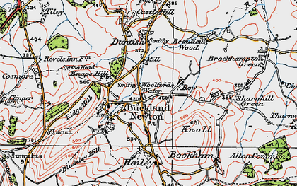 Old map of Woolford's Water in 1919