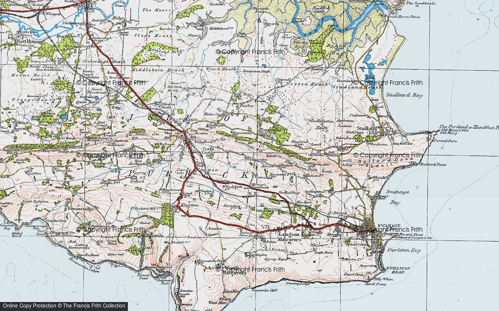 Old Map of Woolgarston, 1919 in 1919