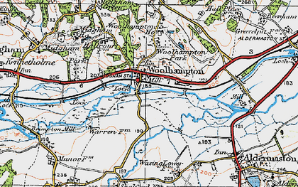 Old map of Woolhampton in 1919