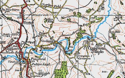Old map of Woollard in 1919