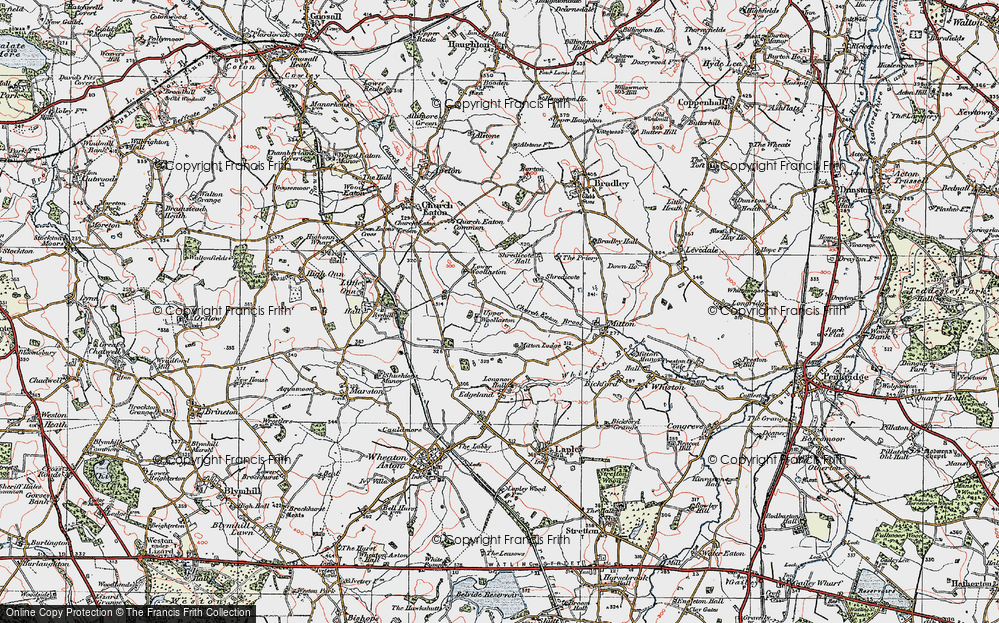 Old Map of Woollaston, 1921 in 1921