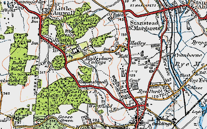 Old map of Woollensbrook in 1919