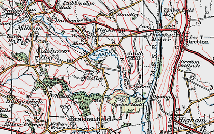 Old map of Woolley in 1923