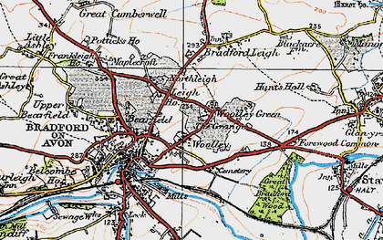 Old map of Woolley Green in 1919