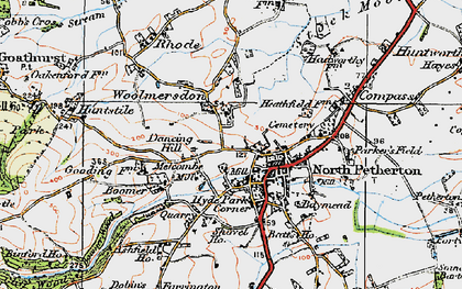 Old map of Woolmersdon in 1919
