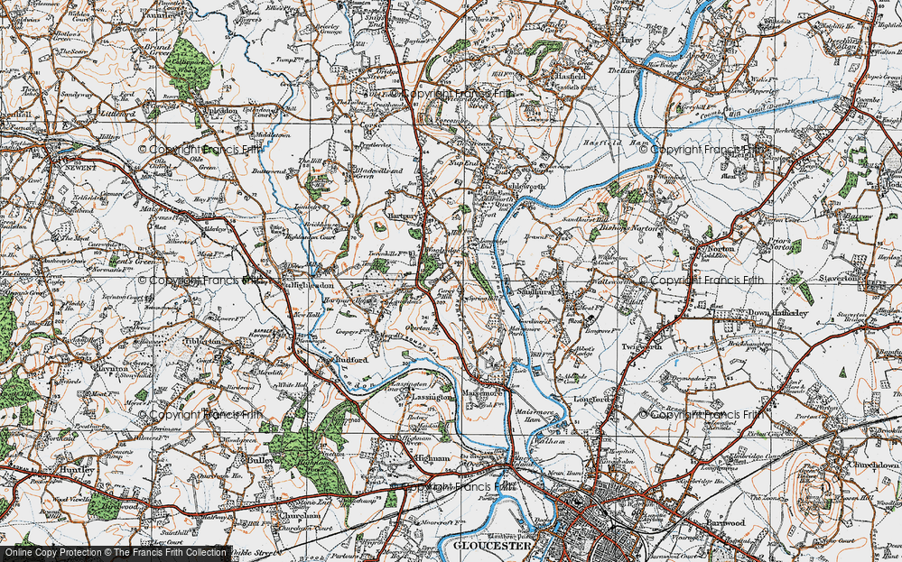 Old Map of Woolridge, 1919 in 1919