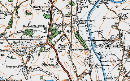 Old map of Woolridge in 1919