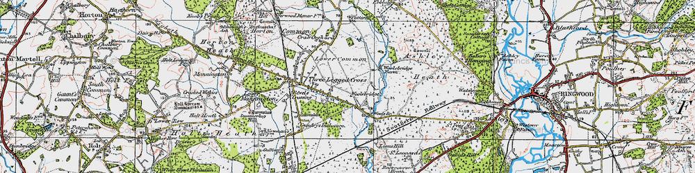 Old map of Woolsbridge in 1919