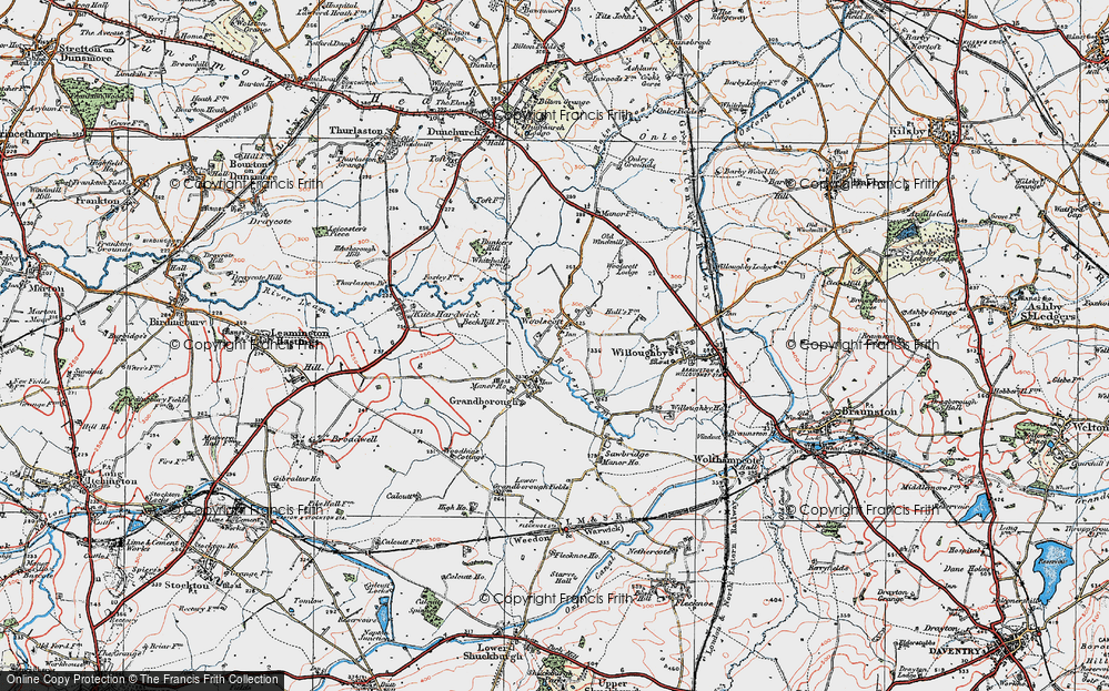 Old Map of Woolscott, 1919 in 1919