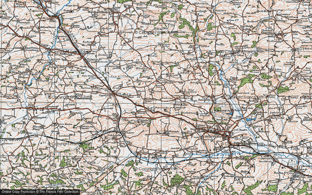 Old Map of Woolsgrove, 1919 in 1919