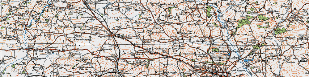 Old map of Woolsgrove in 1919